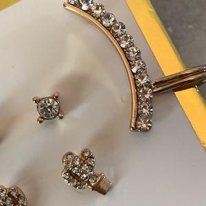 Jewelry - Stud gold diamond earrings